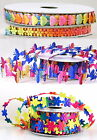 RAINBOW RIBBON~TRIMMING~BUTTERFLY ~FLOWER- HEART~CARDMAKING~CRAFT~APPLIQUE