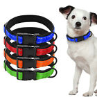 Nylon Padded Reflective Pet Dog Collars with Metal D Ring Durable for Dogs S M L