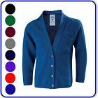 "New Good Quality Boys Girls School Knitted Cardigans sizes 24""-38"" (3010)"