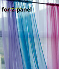 2x Solid Blue Pink Green White Yellow Purple Sheer Voile Curtain Panel*20 Color