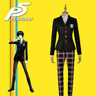 Game Persona 5 Cosplay Costume Protagonist Uniform Coat Shirt Pants Custom