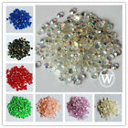 4mm Resin Rhinestone Round Flatback 14Facets Nail Art Crafts DIY AB Colors