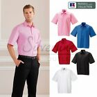 Russell Collection Short sleeve pure cotton easycare poplin shirt