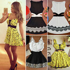 Women Summer Casual Party Evening Cocktail Skater Pleated Skirt Short Mini Dress