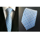Men High Quality Polyester Neckties Polka Dots Jacquard 8cm Wide Ties BWTHZ00032