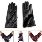 Women Winter Touch Screen Warm Leather Gloves Outdoor Sport Driving Gloves Gift
