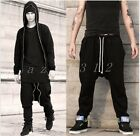 Mens Cotton Blend Loose Casual Elastic Pants Dancing Outdoor Stylish Trousers
