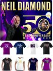 Neil Diamond T Shirt World Tour 4 designs Vinyl Prints or Sparkling Rhinestones
