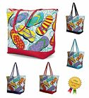 Ladies Summer Holiday Beach Bag Girls Travel Pool Picnic Flight Flipflop Tote