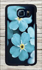 FLOWER FORGET ME BLUE CASE FOR SAMSUNG GALAXY S6 -jhy7Z