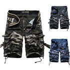 MILITARY Mens Casual Relaxed Slim Fit Golf Sport Cotton Cargo Shorts Short Pants