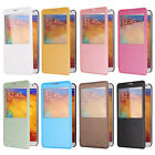 Window View Flip Folio Screen Leather Cover Case Skin For Samsung Galaxy Note 3