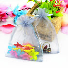 COLORFUL ORGANZA WEDDING FAVOUR CANDY XMAS GIFT BAGS JEWELRY POUCHES 2 SIZES