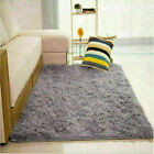 Area Rugs - Shaggy Fluffy Rugs AntiSkid Area Rug Dining Room Carpet Home Bedroom Floor Mat
