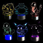 3D Lamp with Remote Control Pokemon gift Night light 7 color change Decorative