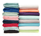 New Colors Solid 6pc Bed Sheet Set 1000TC Soft Egyptian Cotton UK Sizes