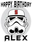 STAR WARS STORMTROOPER BIRTHDAY T-SHIRT Personalized Name/Age Fonts Black Red $14.95 USD on eBay