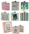 New Gent Ladies Hip Flask Festival Party Pocket Size Stainless Steel Out