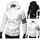Fashion Mens Slim Fit Hoodies Hooded Coat Sweatshirt Tops Tracksuits Jacket Tops