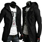 Fashion Men's Slim Fit Casual Long Trench Coat Hoodies Outerwear Jacket Tops Hot