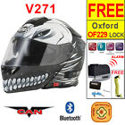 Vcan V271 Hallow Black Blinc Bluetooth 5 Flip Up Motorbike Motorcycle Helmet