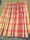 """Lot of 2 Drapery Panels Rust Gold Green Plaid, 36""""  x 44""""ea... 3 sets Available"""
