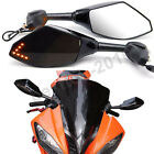 Black Motorcycle LED Turn Signal Side Mirrors For Yamaha YZF R6 YZF600 R1 FZR600