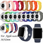Silicone Sport Replacement Watch band iWatch Strap for Apple Watch Wrist Models