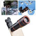 US 12X Zoom Telescope Telephoto Camera Lens+Clip For Android & iOS Smartphones