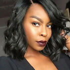 Shoulder Long Synthetic Hair Wig Lace Front Wigs Black Afro Kinky Curly Wave UK