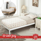 White or Natural Wood Wooden Single Bed Frame Children Bedroom Furniture
