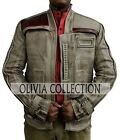 Star Wars Finn Poe Dameron Real Waxed Leather Jacket $149.0 USD