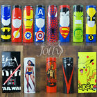 Superhero 18650 Battery Wraps Heat Shrink PVC Pre Cut Sleeves 8 Designs NEW
