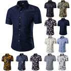 Fashion Men Luxury Casual Stylish Slim Fit Short Sleeve Casual Dress T Shirt