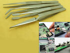10sets Tweezers Plier Non-magnetic Stainless Steel for Jewelry ICs SMD Eyelash