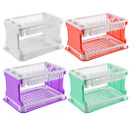 Plastic New Lace Design 2 tier Dish Drainer Cutlery Storage Rack Organizer New