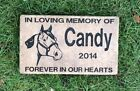 Personalized  Memorial Grave Stone Deeply Engraved Horse ...