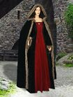Medieval Renaissance Dresses Fur Trimmed Dress Gown LOTR Costume Clothing