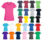 Damen Valueweight T-Shirt Lady-Fit Rundhals Fruit of the Loom