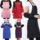 New Women Solid Cooking Kitchen Restaurant Bib Apron Dress with Pocket Gift HYE