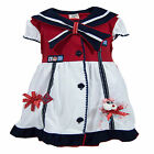 newborn sailor dress - newborn infant baby girl marines sailor dress w diapercover size 3 6 9 12 months