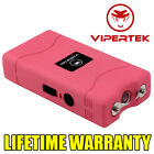 VIPERTEK PINK Mini Stun Gun VTS-880 90 MV Rechargeable LED Flashlight