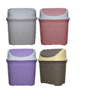 Lace Style Plastic Click Dust Bin Rubbish Waste bin 5.5 Liter  Home Office New
