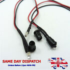 Constant 12v 3mm LED Diode Light 20cm Cable Wire With Plastic Holder Mount Bezel
