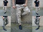 Camouflage Fashion Herren Hose Skinny Fit Cargo US Army Military Armee Jeans