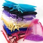 3 Sizes 100 Organza Gift Bags Jewellery Candy Sheer Pouches Wedding Party Favour