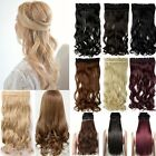 Lady Clip In Natural Hair Extensions Clip On One Piece Black Long Straight wavy