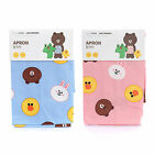 Line Friends Character Kitchen Restaurant Cooking Unisex Apron Dress Pink Blue