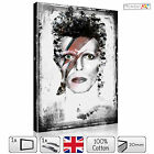 LARGE DAVID BOWIE SINGER ICONIC MODERN STRETCHED CANVAS WALL ART PRINTS PICTURES