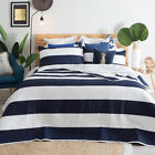 New Aspire Brighton Dark Blue Coverlet Set